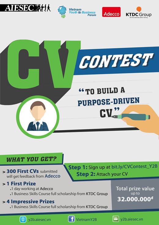 Cuộc thi viết CV – Thể hiện mục đích sống, bạn đã sẵn sàng?