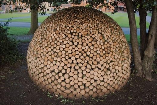 Những khúc gỗ cũng có thể biến hình thành khối tròn đẹp mắt thế này