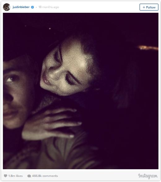 Đến tháng 1/2014, anh chàng tiếp tục phá vỡ kỉ lục của chính mình với bức ảnh chụp cùng bạn gái Selena Gomez, công khai khẳng định rằng cả hai đã quay trở lại với nhau, Yêu cách mà em nhìn anh, anh chàng chú thích hình ảnh. Đây chính là hình ảnh đã đánh bại bức ảnh cùng Will Smith trước đó của anh chàng với 1.8 triệu lượt thích.