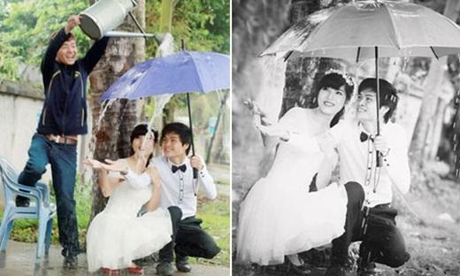Cơn mưa tình yêu ngọt ngào nhân tạo (nguồn: facebook Minh Thành)