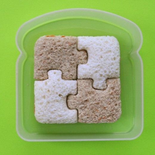 Ai mà nỡ ăn chiếc bánh sandwich đẹp thế này chứ?