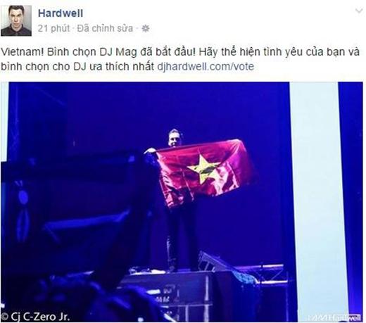 """DJ Hardwell khiến fan thích thú vì quá """"thành thạo"""" tiếng Việt"""