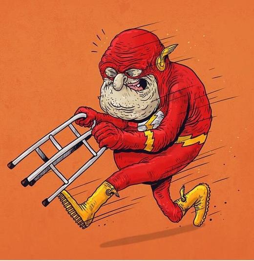 """Siêu anh hùng Flash """"thoắt ẩn thoắt hiện"""" một thời mà cũng cần đến xe đẩy thế này!"""