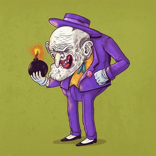 """Đến lúc già mà """"ông hoàng tội ác"""" Joker vẫn không ngừng nghỉ phạm tội."""