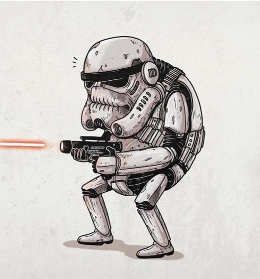 Cảnh sát Stormtrooper trong Star Wars đây sao?