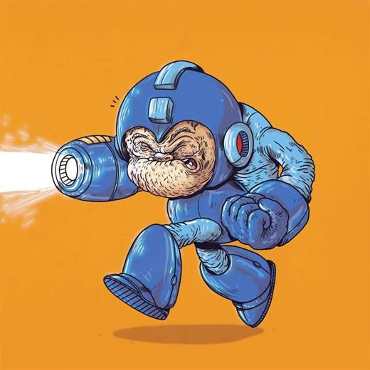 Megaman đang gồng hết sức để sử dụng năng lực của mình.