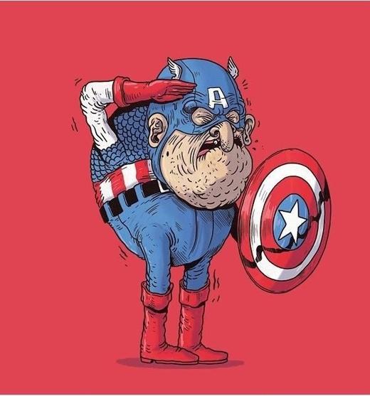 Captain America luôn sẵn sàng khi có lệnh.