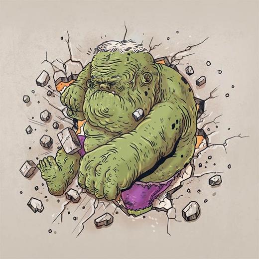 Tuổi tác không thành vấn đề đối với người khổng lồ xanh Hulk.