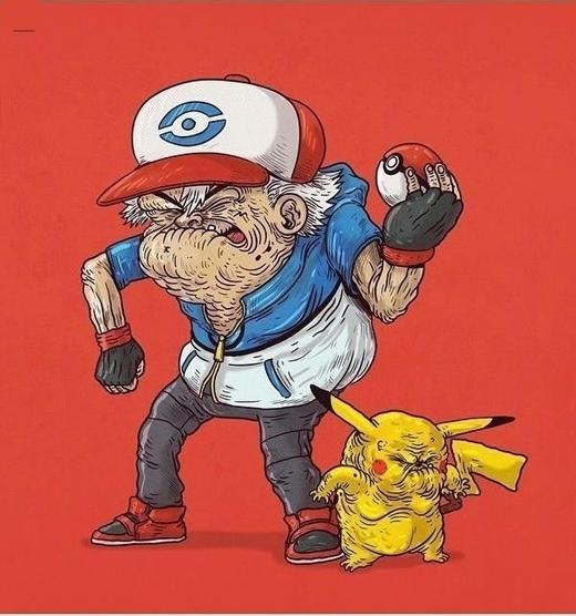Satoshi và Pikachu vẫn còn đồng hành cho đến lúc già nua!