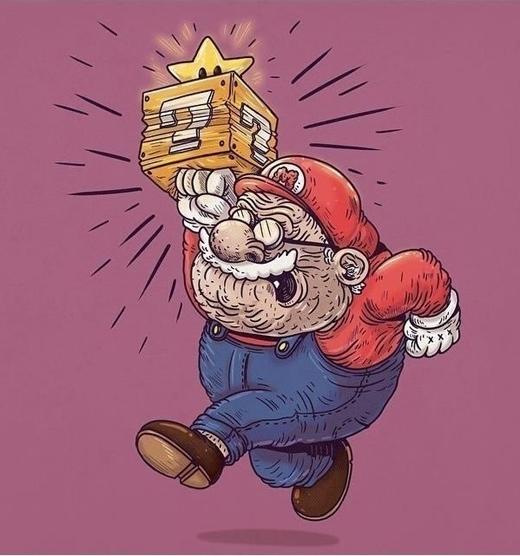 Nấm lùn Mario chắc phải ăn thật nhiều mạng thì mới qua màn nổi quá.