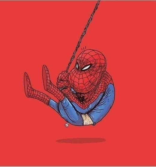 Tuổi già đã níu kéo bước chân nhanh nhẹn của Người nhện (Spider Man).