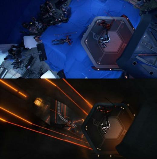 Công nghệCGI đã biến phim trường thành tàu không gian