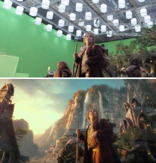 Còn đây là cảnh trongThe Hobbit