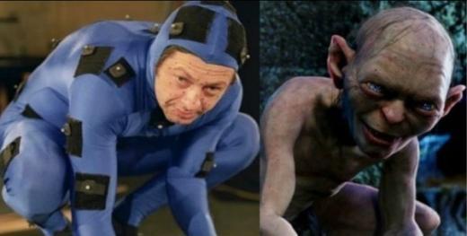 Nhân vật Gollum trong Lord of the Ring thực chất là do một người mặc đồ xanh