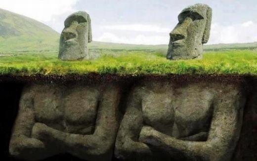 Khám phá gây sốc bên dưới các tượng đá ở đảo Phục sinh