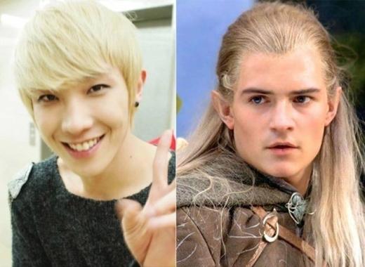 Nhờ mái tóc vàng chóe và làn da trắng sáng mà Lee Joon khiến nhiều người liên tưởng đến Legolas điển trai trong The Lord Of The Rings.