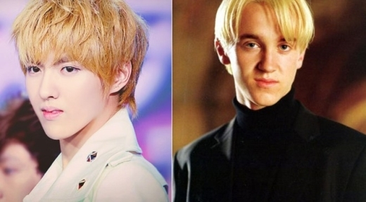 Nhan sắc có phần thư sinh hơn nhưng dáng vẻ cùng mái tóc của Kris lại vô cùng giống với Draco Malfoy trong Harry Potter.