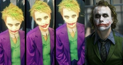 """Có lẽ giải hóa trang giống nhất sẽ thuộc về Key (SHINee) là xứng đáng nhất. Gương mặt """"thần kinh"""" của anh khiến nhiều người không khỏi khiếp sợ khi nhớ đến """"vai ác huyền thoại"""" Joker."""