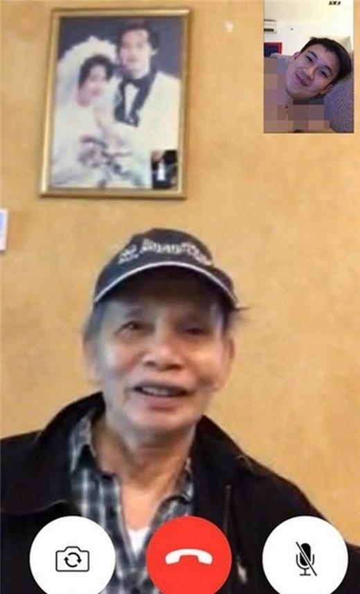 Dương Triệu Vũ vô tình để lộ bức ảnh cưới của Hoài Linh và vợ khi đăng hình facetime với bố trên facebook. - Tin sao Viet - Tin tuc sao Viet - Scandal sao Viet - Tin tuc cua Sao - Tin cua Sao