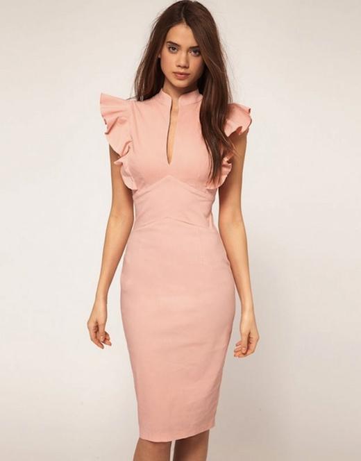 Váy có chít eo cao hơn bình thường sẽ rút ngắn phần lưng.