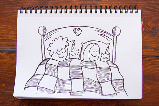 Chúng tôi thường ngủ theo đội hình xen kẽ.