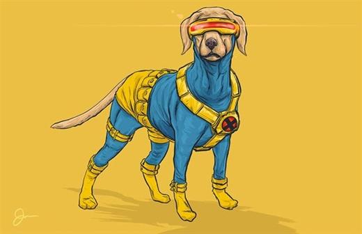 """Giống chó săn Labrador Retriever """"biến hình"""" thành anh chàng có đôi mắt giết người Cyclops"""