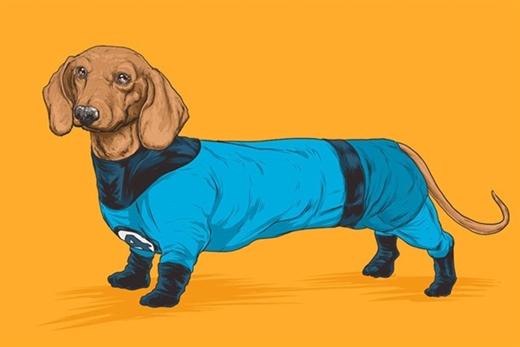 Mr. Fantastic 4 có thân hình của giống chó xúc xích (Dachshund)
