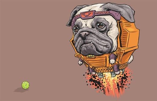 """Giống chó Bull lần nữa được họa sĩ Josh cho vào vai """"ác độc"""" – Đại ác nhân Modok"""
