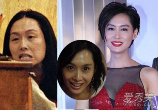 Chu Ân chỉ duy trì được vẻ đẹp khi trang điểm. Không trang điểm, người đẹp 44 tuổi trở về đúng với tuổi thật.