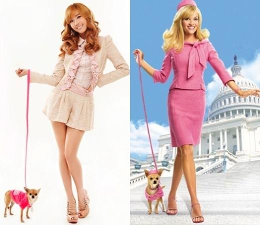 """Mái tóc vàng làm nên hình ảnh """"công chúa"""" của Jessica giúp cô nàng cực phù hợp với vai diễn Elle Wood trong Legally Blonde. Cả hai đều sở hữu vẻ ngoài hơn người cùng sự quyến rũ """"chết người"""" và đặc biệt là trông rất """"sang chảnh"""" trong trang phục sắc hồng nổi bật."""