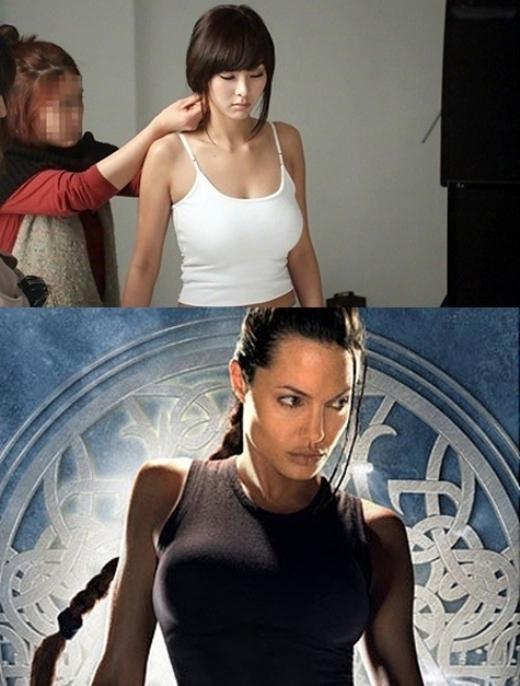 """Ngoại hình """"bốc lửa"""" của G.Na được đánh giá là khá giống với Lara Croft trong Tomb Raider. Nhiều người nhận xét nữ ca sĩ sẽ trở nên quyến rũ hơn khi diện đồ phong cách bụi bặm, cá tính."""