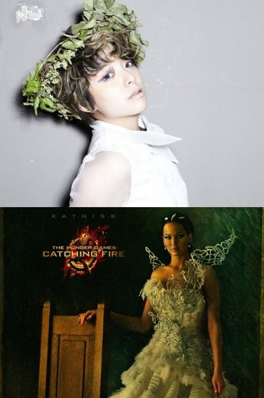 Vẻ ngoài bụi bặm, tomboy của Amber (f(x)) khiến khán giả không khỏi nhớ đến vai diễn Katniss ấn tượng trong Hunger Games.
