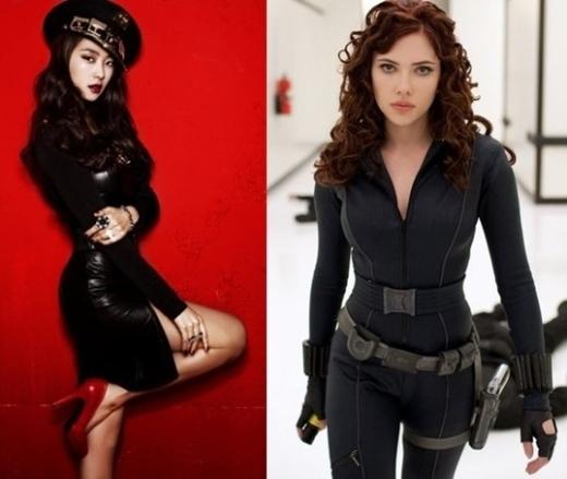 Làn da ngăm đen khỏe mạnh giúp Bora (Sistar) phù hợp với trang phục tối màu ấn tượng. Cùng với thân hình dẻo dai, nhanh nhẹn rất giống với Black Window trong Avengers.