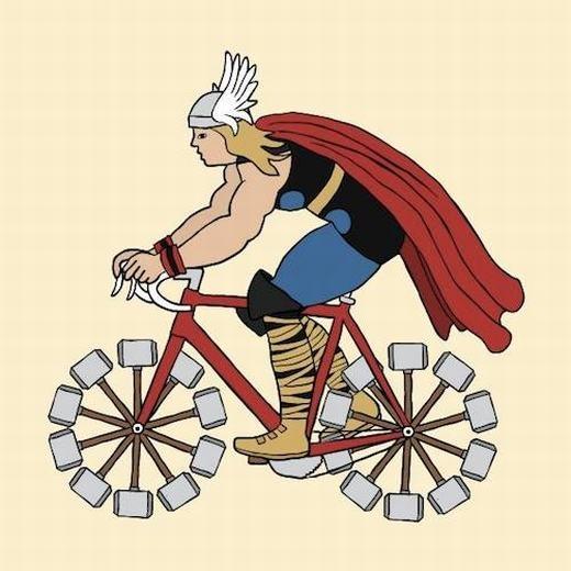 Xe đạp phong cách của thần Thor