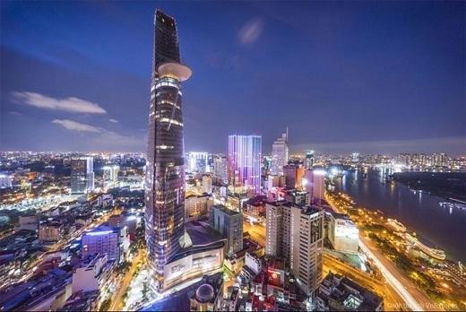 Sài Gòn xa hoa khi nhìn từ trên cao.