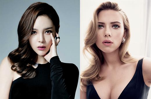 Park Si Yeon và Scarlett Johansson thu hút khán giả bởi ánh mắt sâu thẳm hút hồn và vẻ đẹp quyến rũ không ngừng.