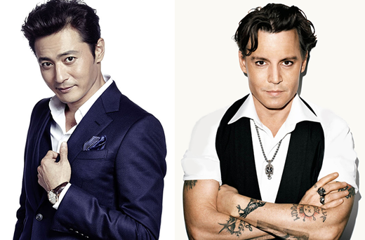 Jang Dong Gun và Johnny Depp đều khiến phái yếu phải gục ngã bởi ánh nhìn chăm chú và nụ cười mỉm quyến rũ.