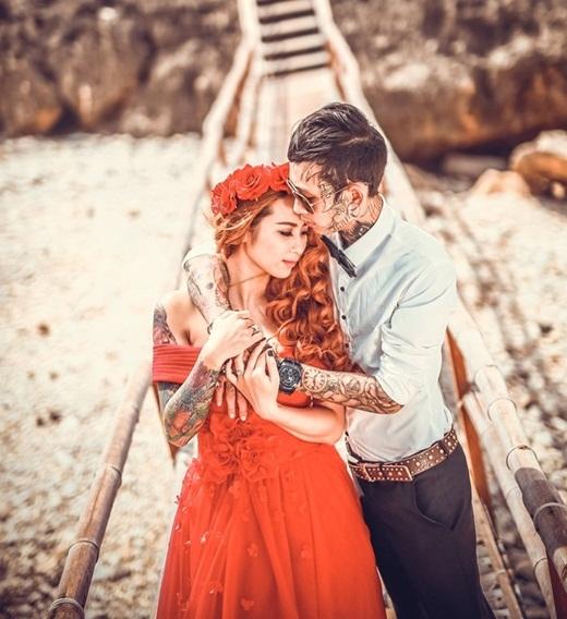 Ấn tượng trước bộ ảnh cưới siêu chất của cặp đôi xăm trổ 9x
