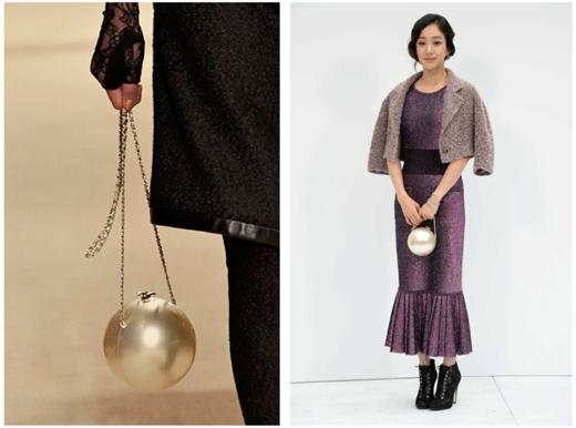 Và Jung Ryeo Won với giỏ xách thiết kế độc đáo hình ngọc trai của Chanel.