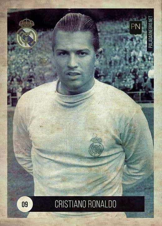 Mái tóc được vuốt gel bóng lộn và thân hình có phần phì nhiêu của Cristiano Ronaldo khiến nhiều người liên tưởng đến huyền thoại Alfredo Di Stefano, chân sút lừng danh từng ghi 307 bàn thắng sau 396 trận ra sân cho Real trong quãng thời gian từ 1953-1964.