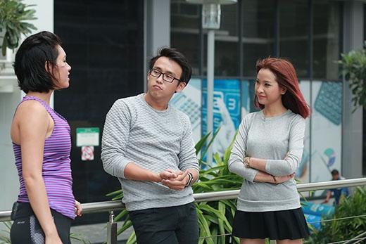 Bắt gặp Quang Bảo - Kim Nhã diện đồ đôi tập thể dục
