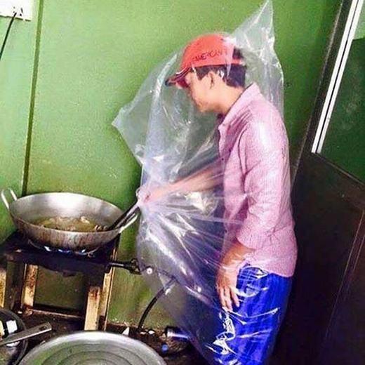 Sự sáng tạo của đàn ông khi vào bếp.