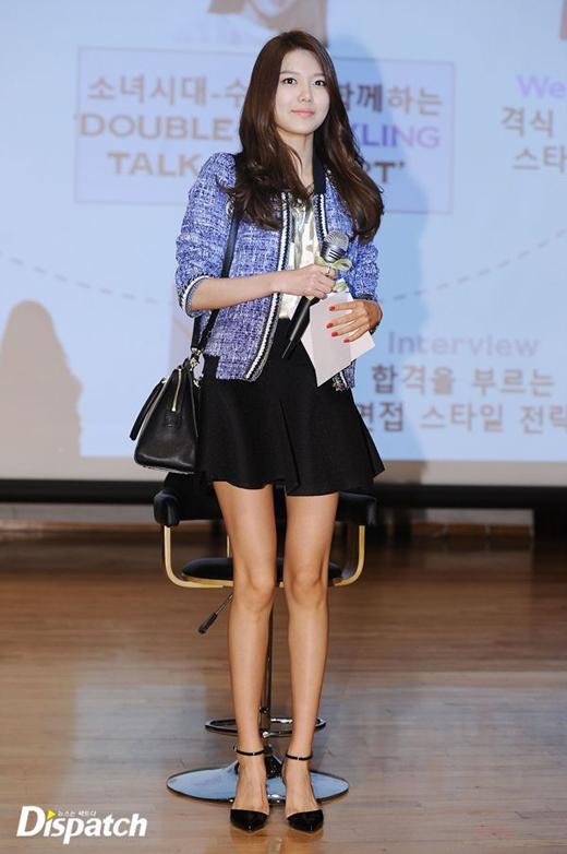 Đôi chân dài của Sooyoungluôn khiến phái nữ phải ganh tị.