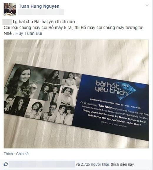 """Được Mỹ Linh nhắn nhủ, Tuấn Hưng tuyên bố chỉ coi Lam-Nhung là """"đàn chị"""" - Tin sao Viet - Tin tuc sao Viet - Scandal sao Viet - Tin tuc cua Sao - Tin cua Sao"""