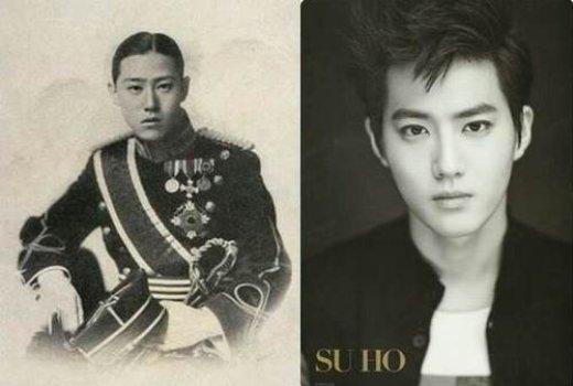 """Với nhan sắc điển trai """"không tỳ vết"""", Suho (EXO) còn chứng tỏ bản thân sở hữu vẻ hoàng tộc cao quý khi được đánh giá là """"bản sao thời hiện đại"""" của Lee Woo – hoàng tử cuối cùng của nước Đại Hàn Dân Quốc."""