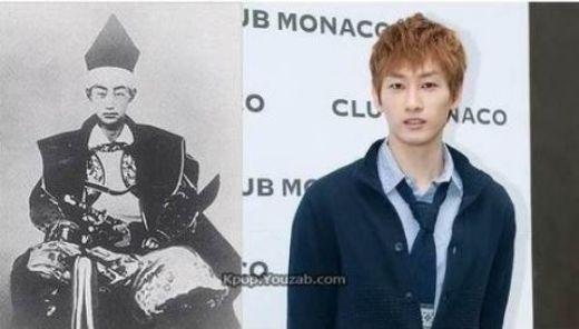 Eunhyuk (Super Junior) và Matsudaira Karamori – một trong những samurai tài ba nhất xứ sở hoa anh đào cuối thời Edo, sở hữu nhiều nét trên gương mặt giống nhau đến khó tin. Thậm chí, đến đôi chân mài cũng trông y đúc. Nếu như sống cùng thời, không khéo cả hai sẽ bị lầm tưởng là anh em sinh đôi thất lạc của nhau.