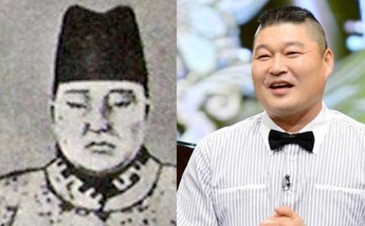 Trong khi đó, gương mặt tròn trịa và tất cả chi tiết trên gương mặt của Kang Ho Dong được đánh giá là giống đến 90% hoàng đế Gia Tĩnh của Minh triều.