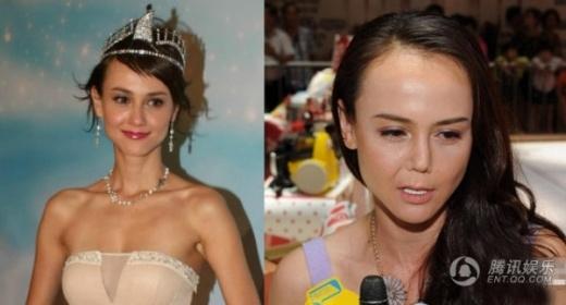 Hàn Quân Đình từng là Hoa hậu châu Á, người đẹp TVB nhưng khi cô xuất hiện gần đây, người ta ngỡ ngàng vì gương mặt hoàn toàn khác biệt với cánh mũi vẹo.