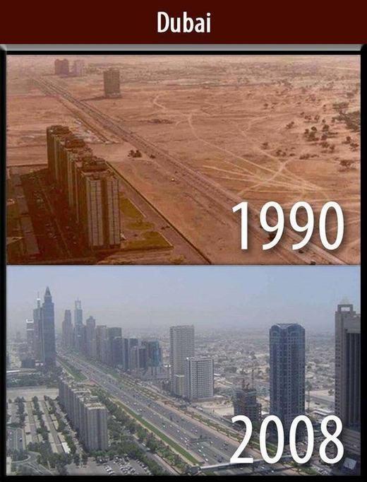 Sự phát triển nhanh chóng không thể tin nổi của Dubai.