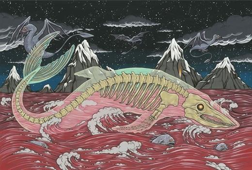 Trong các câu truyện thần thoại Nhật Bản, Bake-kujira là một sinh vật với bộ xương cá voi khổng lồ. Mỗi lần Bake-kujira xuất hiện, mọi người cũng sẽ thường thấy những con chim lạ và cá xuất hiện cùng với chúng. Chúng được xem là nguyên nhân của những vụ hỏa hoạn, đại dịch và nỗi bất hạnh. Bake-kujira cũng rất hiếu chiến và có tính cách vô cùng hung dữ.